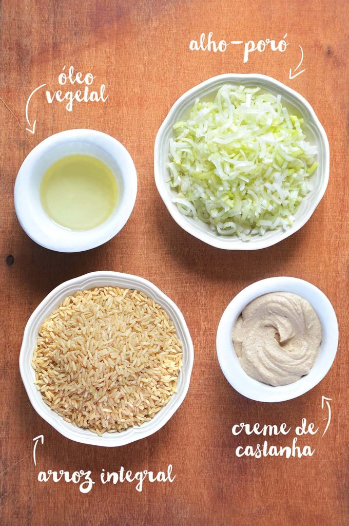 ingredientes do risoto
