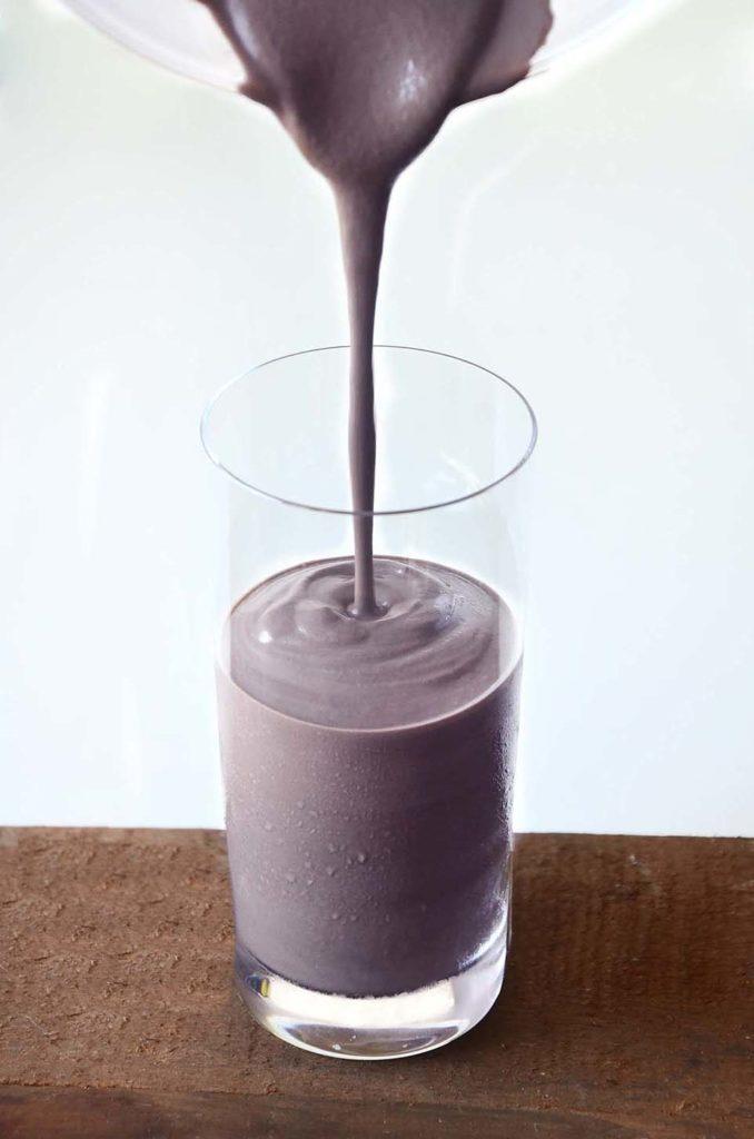 milkshake no copo