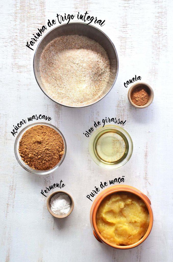 Ingredientes com lettering