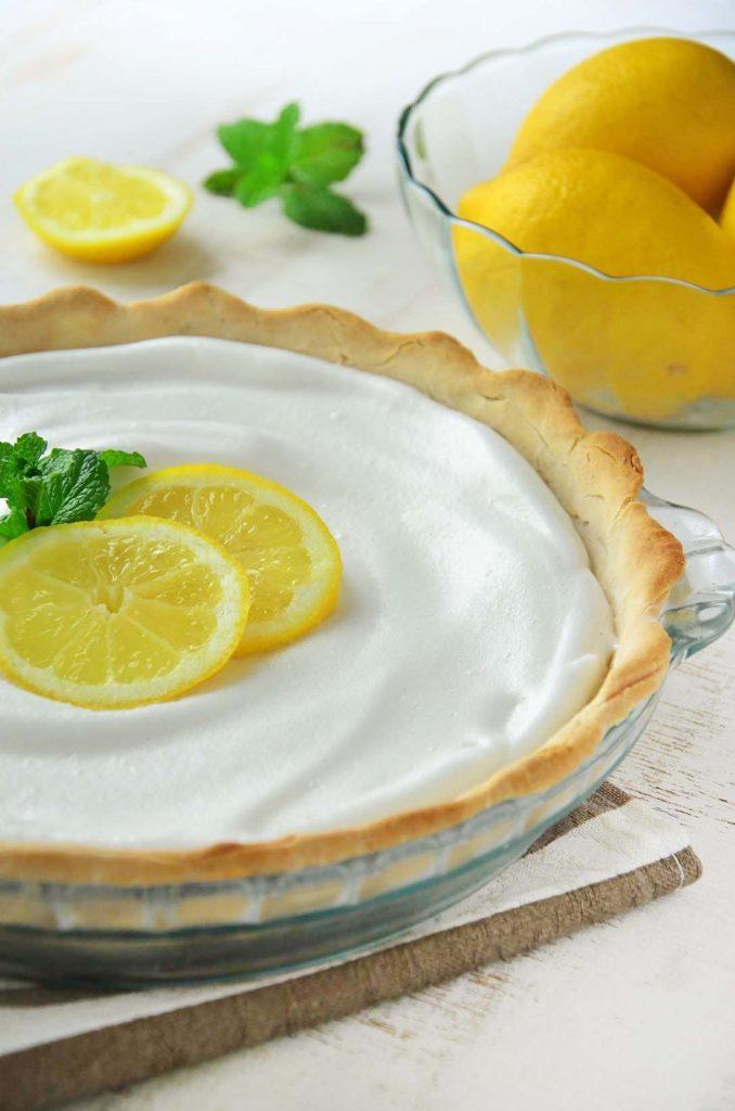 Torta de limão (detalhe).