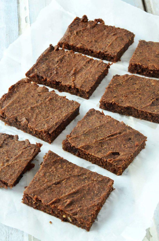 Brownie cortados