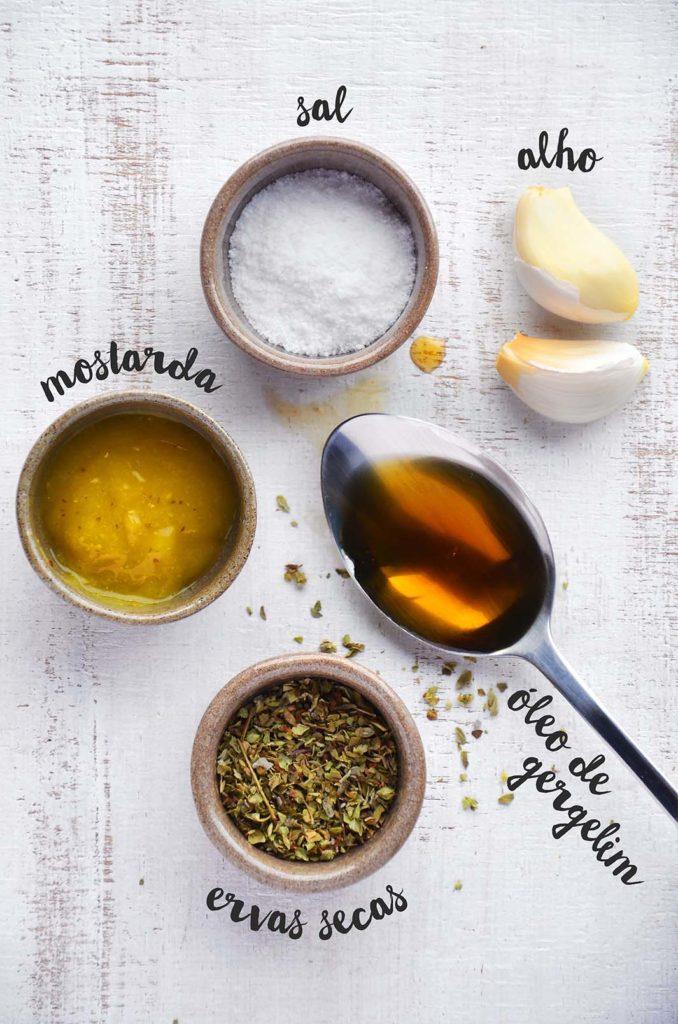 Ingredientes da marinada