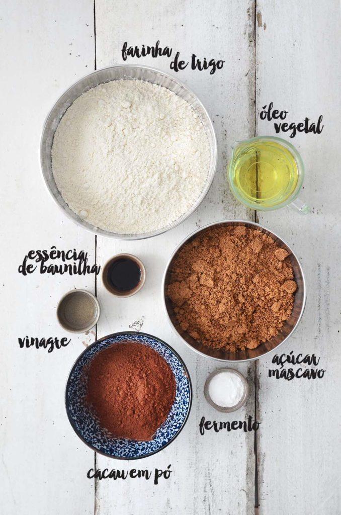 Ingredientes massa.