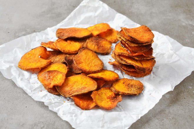 Chips de batata doce (assado) – Tempero Alternativo