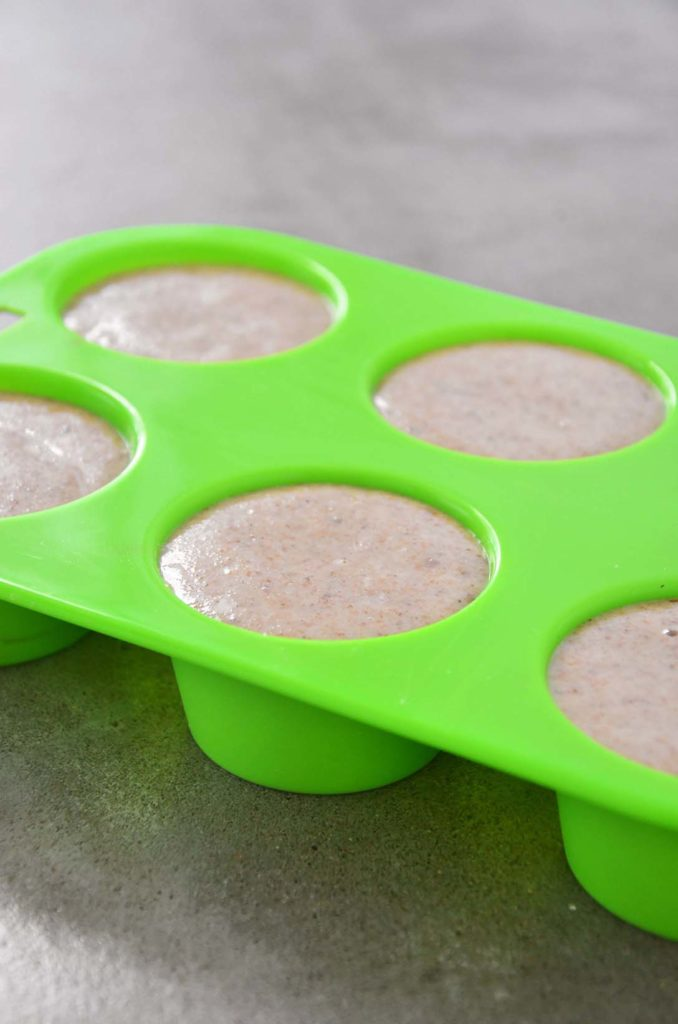 Muffins na fôrma de silicone