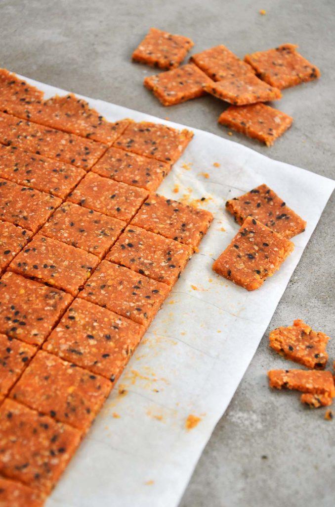 Crackers cortados