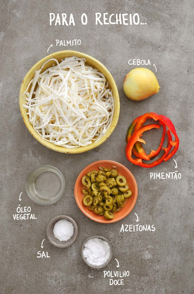 Ingredientes do recheio